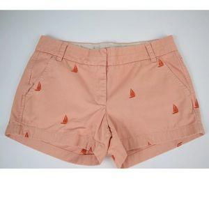 J. Crew orange embroidered shorts size 4